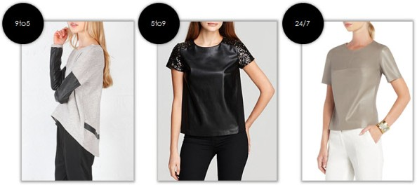 9to5couture - rate & debate - leather tops