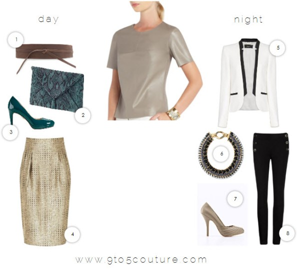 9to5couture - styled by 9to5 - bcbgmaxazaria tulum faux-leather top